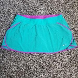 Nike Dri-fit Teal and Purple Skort Size Large